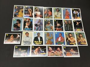 Vintage Lot Of 1980s 90s Assorted Classic Cards WF Wrestling Trading Cards