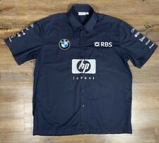 "Vintage BMW Williams F1 Official Team Shirt USA Size ""L"" Formula One"