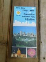 TOURIST MAP EDMONTON SHERWOOD PARK ST ALBERT 1987 1988 CANADA VINTAGE TRAVEL