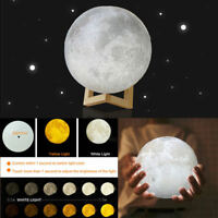 3D Magical Moon Lamp USB LED Night Light Moonlight Touch Sensor Valentines Gift