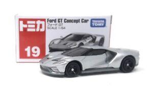 Tomica Modelcar DieCast 1/64 No.19 Ford GT Concept Car silver Takara Tomy