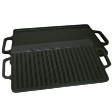 Cast Iron 2 Sided GriddlePre-seasoned 21 in. Free Shipping