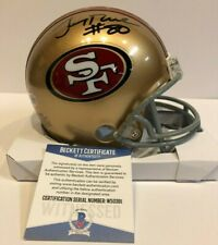 JERRY RICE AUTOGRAPHED SIGNED S.F. 49ERS MINI HELMET BECKETT COA