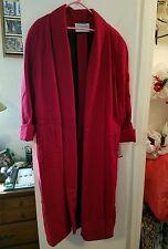 WOMEN'S RED WOOL WINTER DRESS COAT by International Scene size 8 NWT