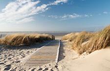 Papel pintado nordseestrand kt410 tamaño 400x280cm arena cielo playa mar del Norte