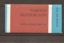 Australia Sc # 446a-447a-448a-449a Famous Australians.Complete Booklet . Mnh