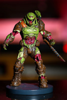 "Doom Eternal Zombie Doom Slayer Statue Figure 8"" Polyresin Doomguy - Bethesda"