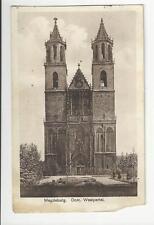 Ansichtskarte AK Dom zu Magdeburg Sachsen-Anhalt 1938 2. Weltkrieg Briefmarke