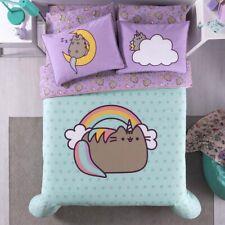 Pusheen Kids Girls Original Licensed Reversible Comforter Set 5 Pcs Twin Size