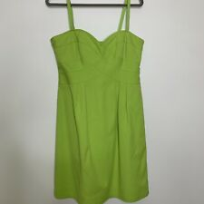 Nanette Lapore Green Sundress Sweetheart Neckline Fitted Bodice Size 12