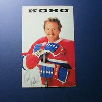 LARRY ROBINSON  KOHO  promo postcard  Montreal Canadiens