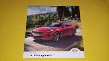 Kia Stinger GT-Line S GT S car brochure sales catalogue December 2017 MINT