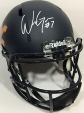 WILL GRIER SIGNED WEST VIRGINIA MOUNTAINEERS FULL SIZE FOOTBALL HELMET SPEED JSA