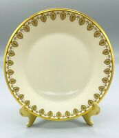 """CLARION Ivory Gold Mark Lenox SALAD / SIDE PLATE 8 1/8"""" Excellent  Made in USA"""