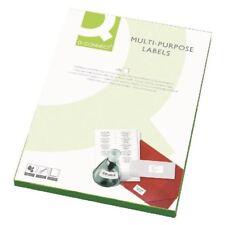 Q-Connect White Multipurpose Label 63.5 x 38mm 21 Per Sheet [KF26051]