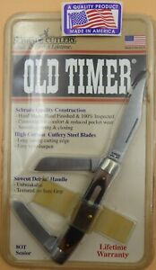 """Schrade USA made {8OT} Old Timer """"Senior Stockman"""" NEW in Clampac with Papers."""