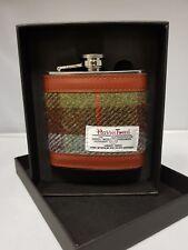 GENUINE Harris Tweed Check 6 oz Stainless Steel Hip Flask New - HF2100 COL 15