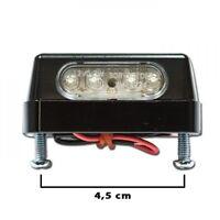 LED Kennzeichenbeleuchtung für Kennzeichenhalter Heckumbau Schraubabstand 45mm