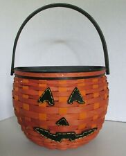 Longaberger 2011 Hanging Pumpkin Halloween Basket with Felt Tie On Face