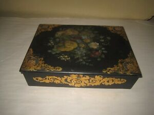 Antique Papier Mache  Writer's Lap Desk, Box