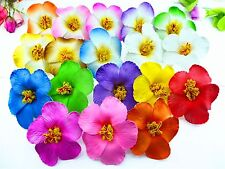 36pcs  mixed colors Foam Hawaiian flower Hibiscus foam Flower bridal hair clip