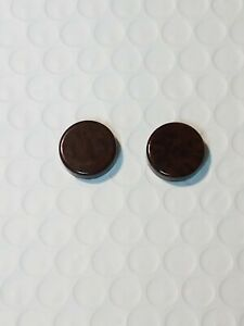 """5/8"""" Travel Backgammon Replacement Magnetic Brown Speckle Game Piece Set Of 2"""
