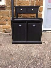 BESPOKE HALL SET H50cm W60cm D35cm BENCH SHOE STORAGE TABLE H70 x W60 x D25cm