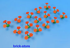 LEGO red Flowers / Plants / 15 Pieces