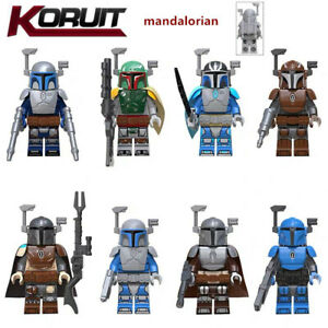 8X Set The Mandalorian Star Wars Minifigure Mini Fig Fits lego building block DE