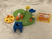 Vintage Fisher-Price Little People #2525 PLAYGROUND COMPLETE EXCELLENT 1986