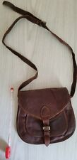 New Women Vintage Brown Leather Messenger Cross Body Bag Purse
