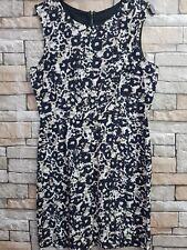 TOPSHOP BLACK MULTI  SMART DAY SLEEVELESS  DRESS SIZE 12 REF 14
