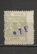 7337-SELLO LOCAL CARTAGENA MURCIA AÑOS 1919-20.USADO,RARO,SPAIN REVENUE CLASSIC