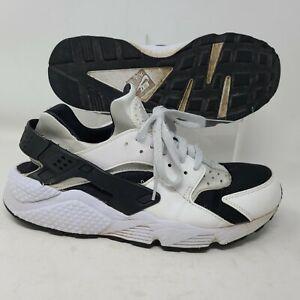 Nike Air Huarache Mens Size 10.5 White Black Athletic Sneaker 318429