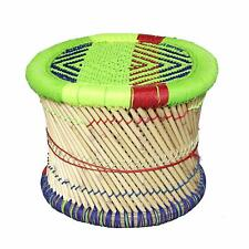 Jaipur Cane Bar Bamboo Muddha/Meditation Stool for Outdoor/Indoor Multicolor 1pc