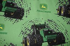 John Deere Tractors Green Cotton Fitted Cot Sheet Handmade