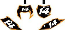 2014-2016 KTM 350EXC-F Custom Pre-Printed Black Backgrounds Orange Shock Series