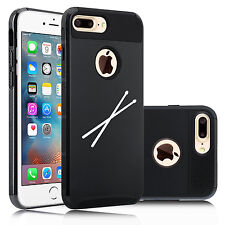 For Apple iPhone SE 5 5s 6 6s 7 Plus Dual Shockproof Hard Case Cover Drum Sticks