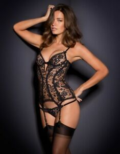 Agent Provocateur DENVER Basque 32C NWT Black Orig. $790 RARE!