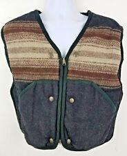 Redskins Territoire Vintage Wool Women's Adjustable Native Pattern Vest Sz M L