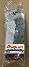 6 Pairs Men's Gray Snap On ANKLE Socks L ~ FREE Shipping ~ MADE IN USA   New!