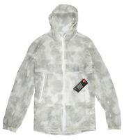 UNDER ARMOUR Lightweight Pursuit Windbreaker Jacket sz M Medium Gray White
