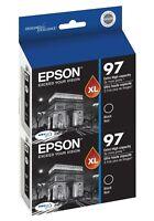 Genuine Epson 97 T0971 Black Ink 2-Pack for NX510 NX515 Workforce 40 600 610 615