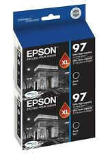 Genuine Epson 97 T0971 Black Ink 2-Pack for NX510 NX515 Workforce 40 600 610 615