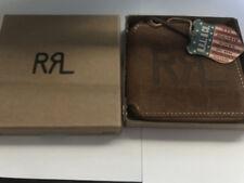 NEW Ralph Lauren RRL Roughout Leather  Zip Around Bifold Wallet Made in USA