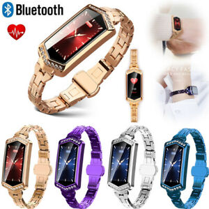 Women Lady Bluetooth Smart Watch Bracelet Heart Rate Monitor for IOS Android