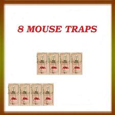 NEW 8 x Reusable Wooden Mousetraps Mouse Trap Bait 10 cm x 5 cm approx