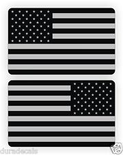 2x3 Black Ops American Flag Hard Hat Stickers | Decals Stealth USA Helmet Flags