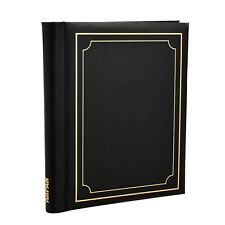 Black Self Adhesive Photo Album Holds 10.8 x 7.5'' 40/Sheets, 80/Sides CL-6802