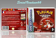 "BOITIER DU JEU ""POKEMON VERSION RUBIS"", GAME BOY ADVANCE, FR. SANS LE JEU."